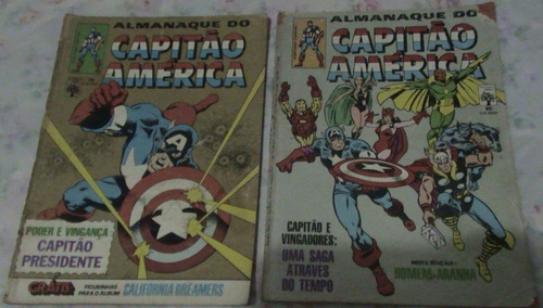 gibi hq almanaque do capitão américa nº 78 e 80 (1985 abril)