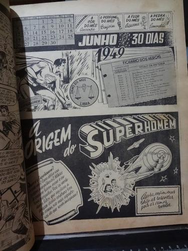 gibi hq almanaque dos herois 1949 comandado por superman