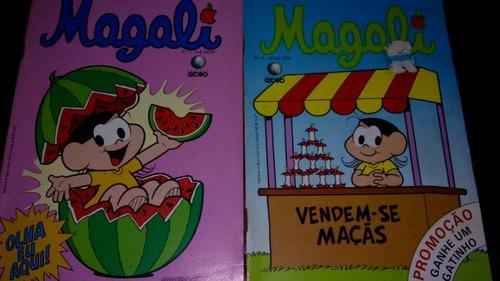 gibi magali número 1 e 2 original da época 1989 quadrinhos