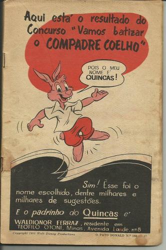 gibi revista o pato donald 168 (25-01-55) rara e original