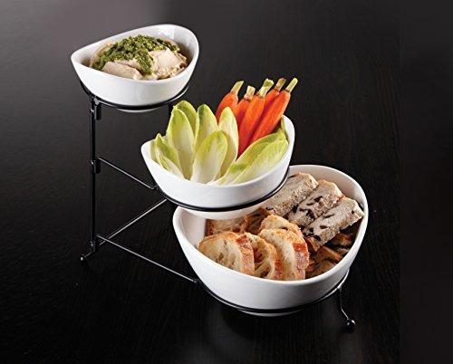 gibson comidas elegantes de 3 niveles oval juego de tazones