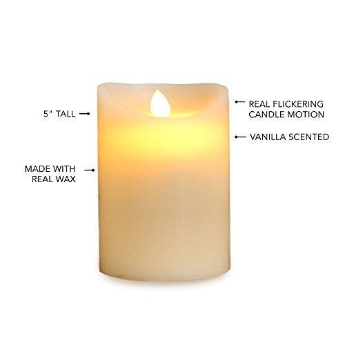 gideon 5 inch flameless led vela - real cera