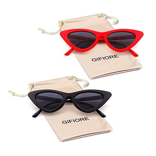 710cbf1e3e3f Gifiore Retro Vintage Cat Eye Sunglasses Para Mujeres Clout ...
