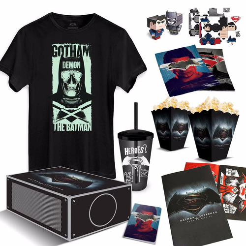 gift box dc comics projetor batman vs superman bandup!