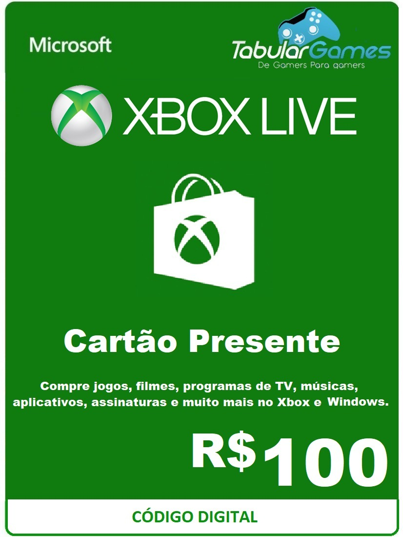 Gift Card Xbox One 100 Reais - Gift Ideas