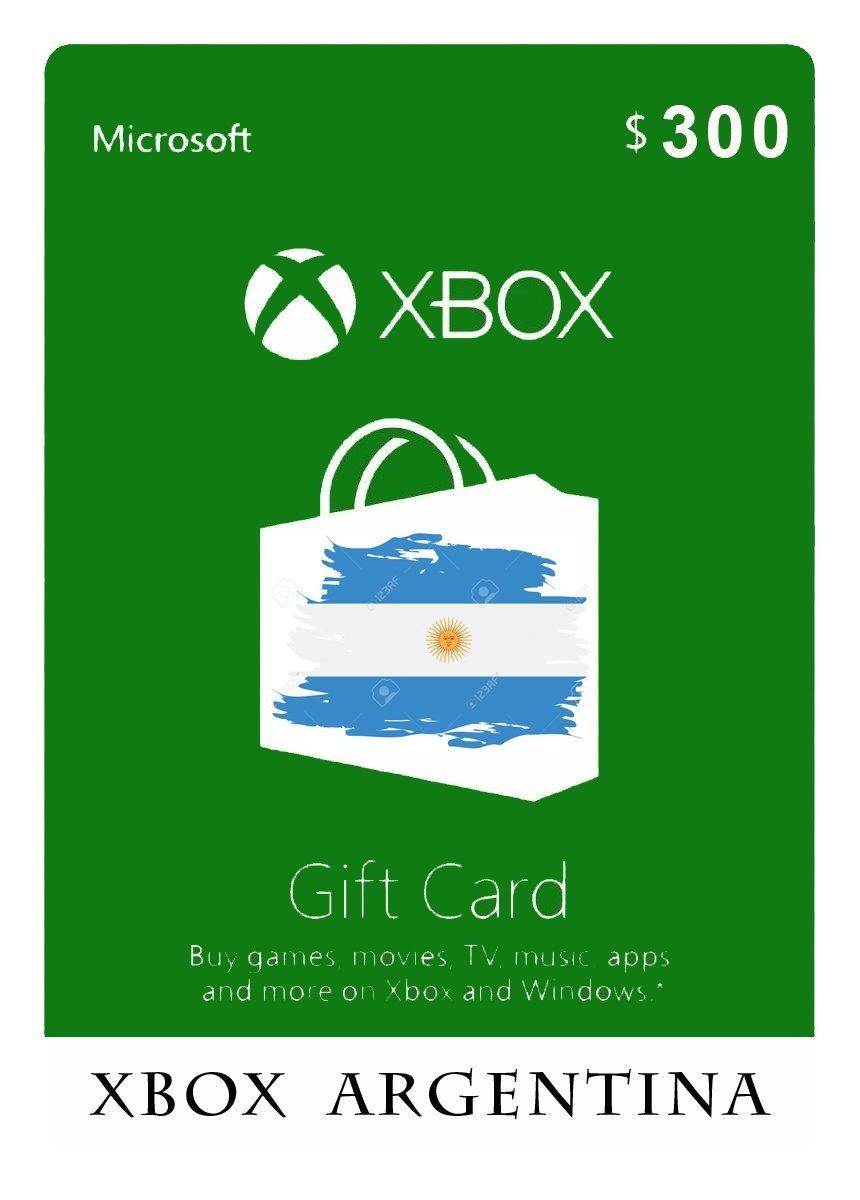 XBOX Live Gift Card 300 ARS XBOX LIVE Key ARGENTINA