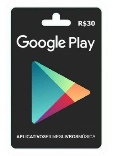 gift card - play store / gift card google play $30 reais