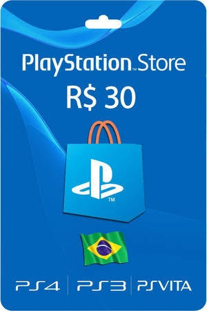 gift card playstation store r$ 30,00