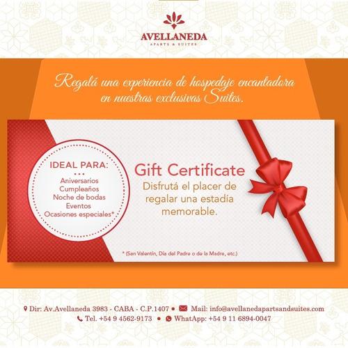 gift certificate estadía en avellaneda aparts & suites
