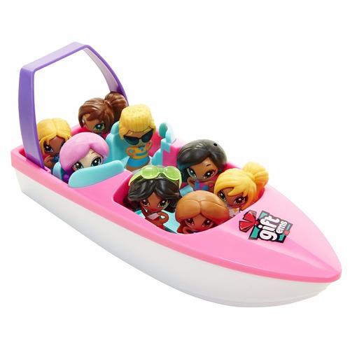 gift ems muñecas sorpresa set barco 8 asientos jakks