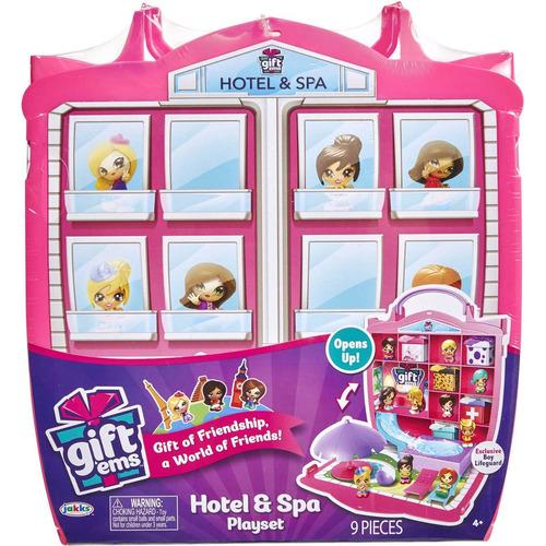 gift ems muñecas sorpresa set hotel y spa jakks