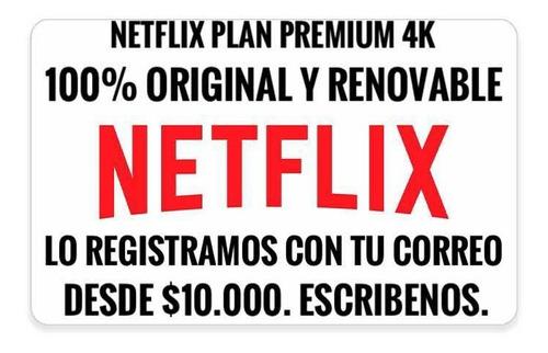 giftcard netflix renovable x 30 días. 100% original.