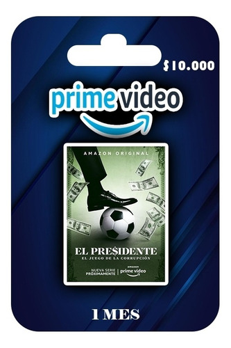 giftcards combo prime vídeo + tidal