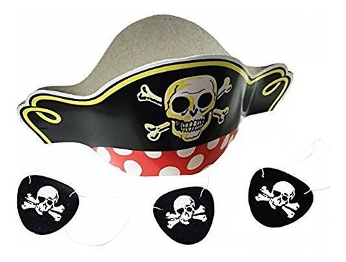 giftexpress sombreros pirata y felt pirate eye patches 1 doc
