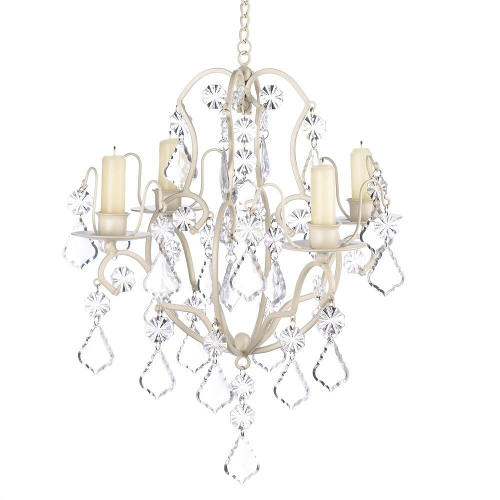 Gifts decor ivory baroque candle chandelier iron and acry cargando zoom aloadofball Gallery