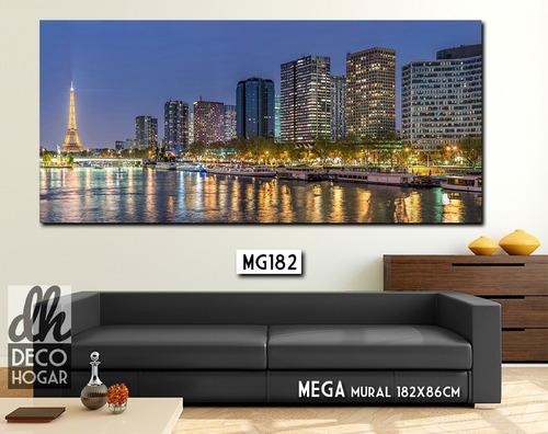 gigante! mega mural 182x86cm unico! cuadro moderno paisaje