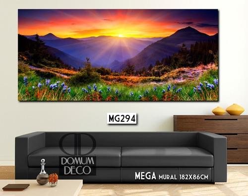 gigante! mega mural 182x86cm unico! cuadro moderno paisaje mapas diseño personalizado