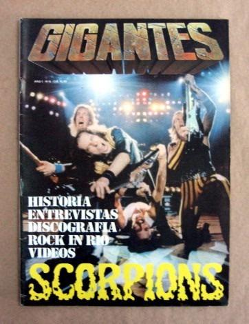 gigantes - scorpions / frete à cobrar
