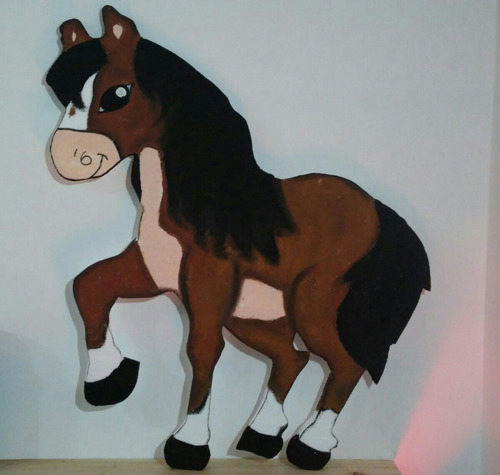 gigantografia animalitos de granja caballo