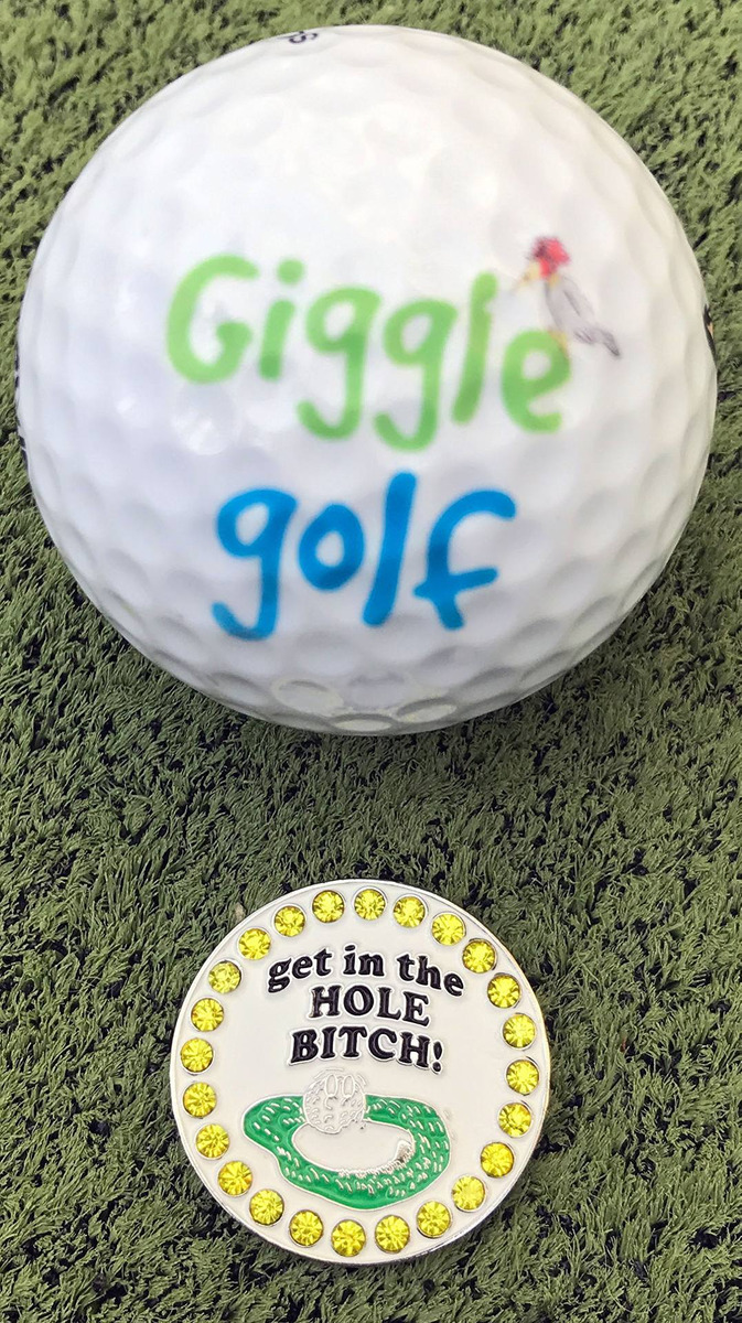 Giggle Marcador De Pelotas De Golf bling Get En El Aguj - S  126 0ce30ca9593b6