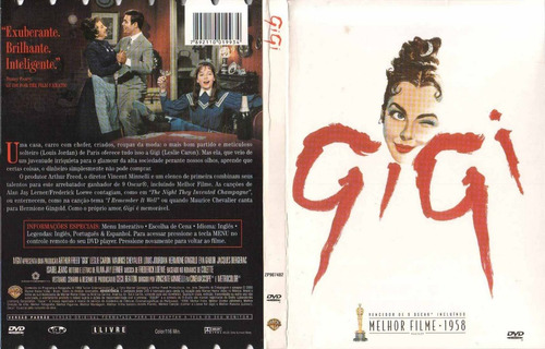 gigi - dvd original seminovo original em ótimo estado raro