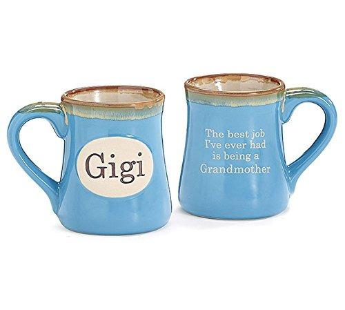 gigi pintado a mano porcelana 18 oz taza de café