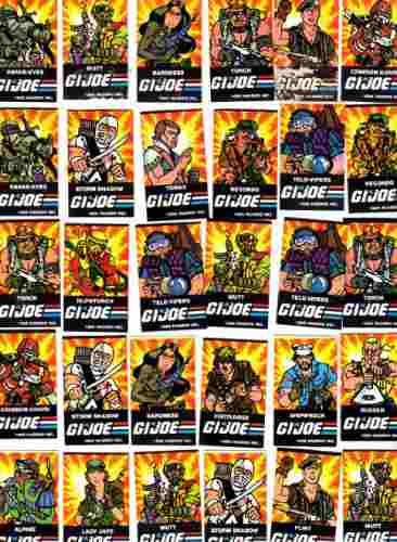 gi.joe 30 figuritas stikers de los 80 ta- n-3