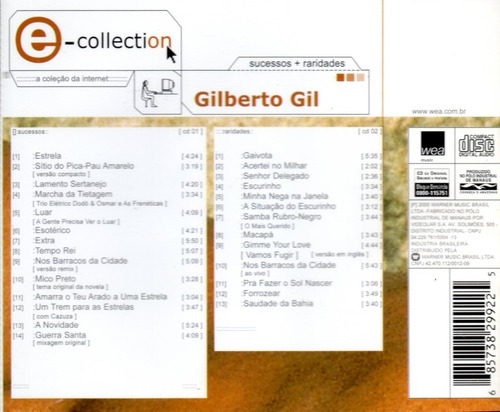 **gilberto gil**   **e-collection**