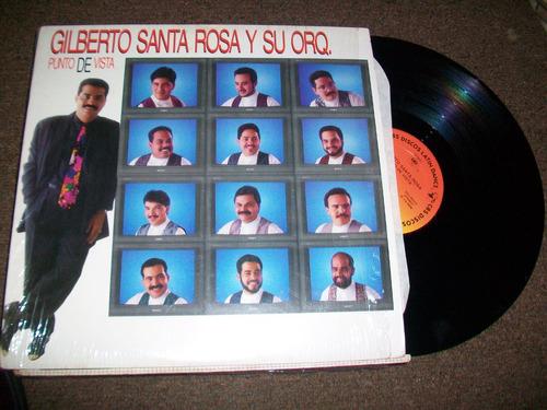 gilberto santa rosa, linda música en disco de acetato, lp.