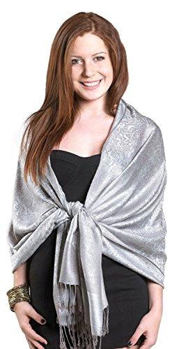 gilbin de lujo del diseño de paisley 28 x 70 mezcla de seda