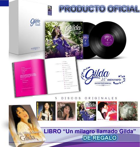 gilda un amor verdadero 2 vinilos,libro,5 cd + libro regalo!