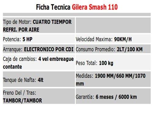 gilera smash 110 automatica patente $4.300