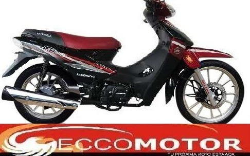 gilera smash 110 full negro y rojo aleacion eccomotor