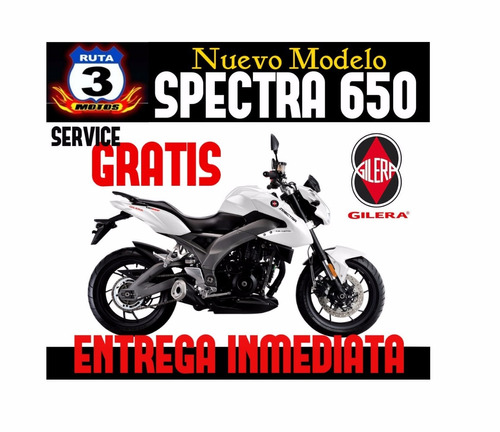 gilera spectra 650 inyection patentamiento gratis 0km 2017