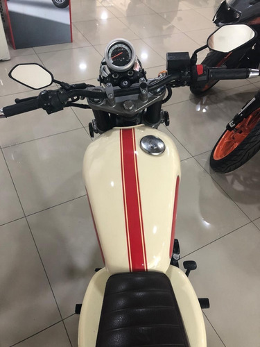 gilera vc 200 cafe racer - beige - año 2018 caba 2000 kms