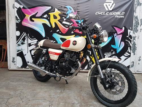 gilera vc 200 super sport cafe racer 0km 2018 stock al 07/12