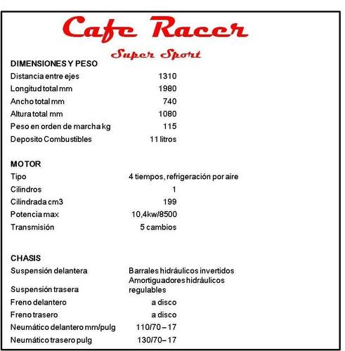 gilera vc 200 super sport cafe racer consulte descuento cont