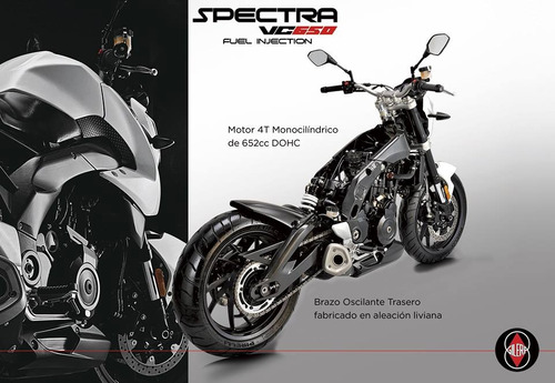 gilera vc650 spectra 650 inyection motor loncin 2019
