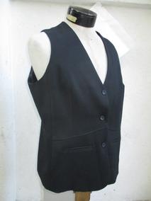 más de moda buscar genuino detallado Gilet Chalequin Guillete De Tela Negro De Mujer Talla Xl