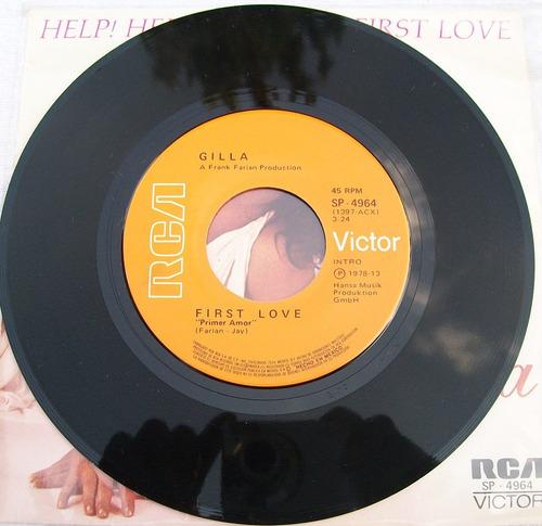 gilla. help!, help!. disco s.p. 45 rpm rca 1978