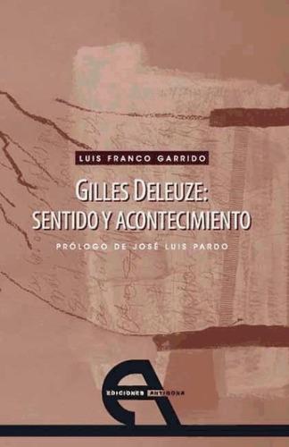 gilles deleuze: sentido y acontecimiento(libro )