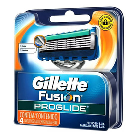 Gillette Fusion Proglide Refil C/4 Cartuchos Com 5 Laminas