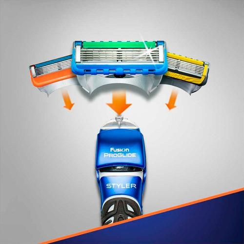 gillette maquina de afeitar styler 3 en 1 + cartucho