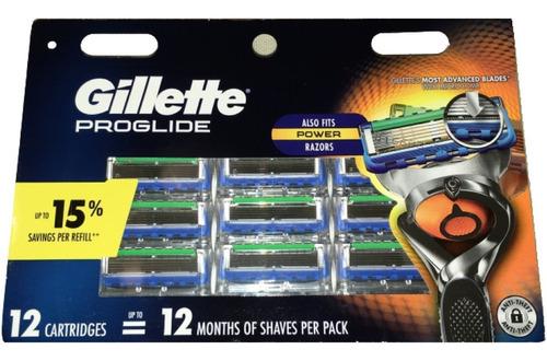 gillette proglide 12cartuchos compatible con fusion orig usa