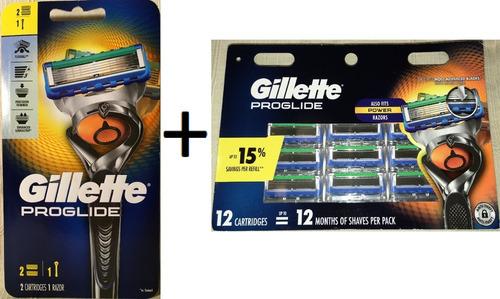 gillette proglide maquina +14 cartuchos compatble fusion usa
