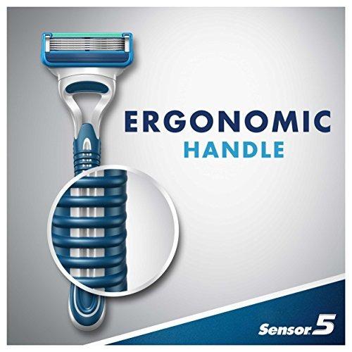 gillette sensor5 razors desechables para hombres, 2 count, r