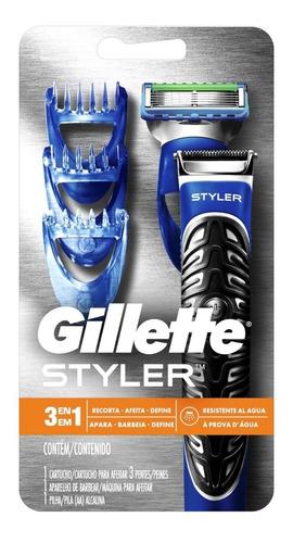 gillette styler 3 en 1 afeitar + gel extra comfort 71g