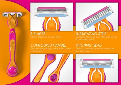 gillette venus 3 hojas máquina afeitadora + repuesto - envío