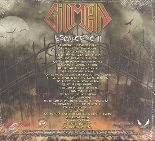 gillman - escalofrio ii  cd nuevo original un tesoro músical