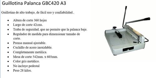 gillotina palanca semi industrial rexel gbc 420